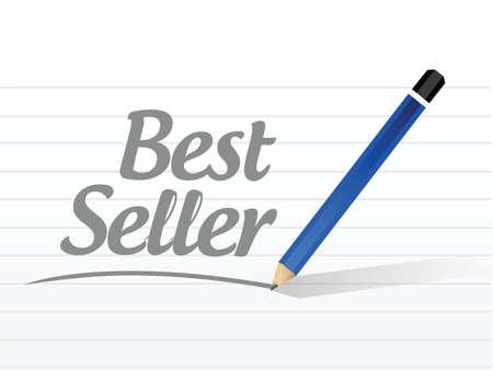 best message: best seller message sign illustration design over white background