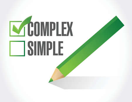 complex over simple illustration design over white background Vector