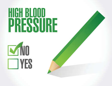 medical examination: low blood pressure concept illustration design over white background Illustration