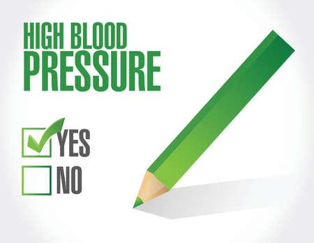 high blood pressure: high blood pressure illustration design over white background Illustration