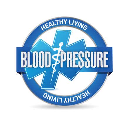 blood pressure medical sign illustration design over white background 向量圖像