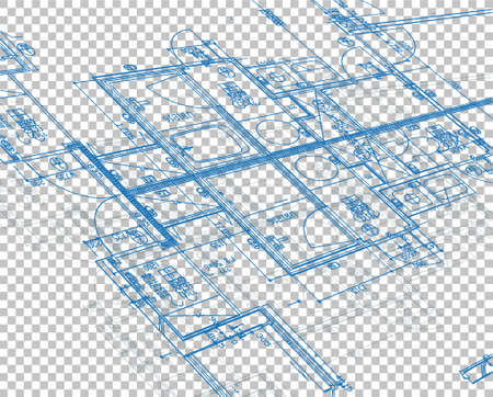 blueprint illustration design over blank layer background