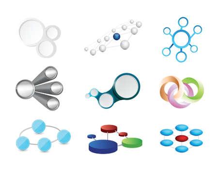 link connection icon set illustration design over white Ilustração