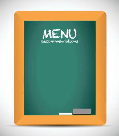 deli: menu recommendations board sign illustration design over white Illustration