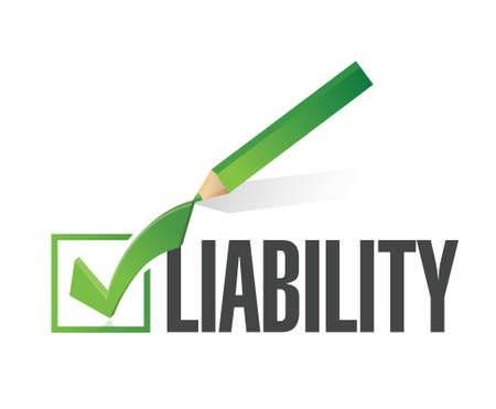 liability: liability check dart illustration design over a white background Illustration