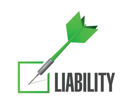 literate: liability check dart illustration design over a white background Illustration