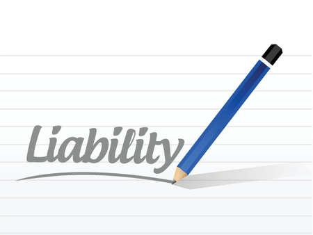 白色の背景上責任メッセージ記号のイラスト デザイン