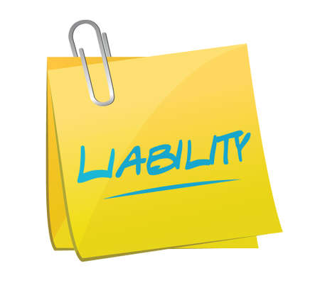 liability memo post illustration design over a white background Иллюстрация