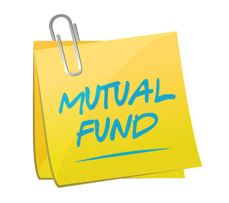 mutual fund: mutual fund memo post illustration design over a white background