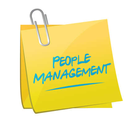 memo: people management memo post illustration design over white Illustration