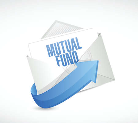 mutual fund: mutual fund mail illustration design over a white background Illustration