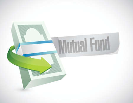 financial diversification: mutual fund money sign illustration design over a white background