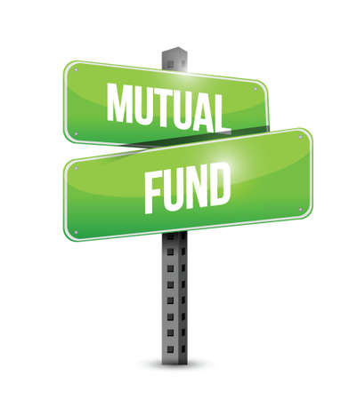mutual fund illustration design over a white background Çizim