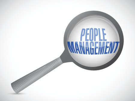 review: people management review illustration design over white