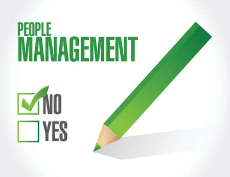 no people: no people management illustration design over white Illustration