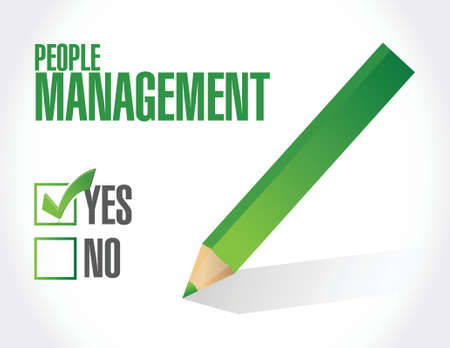 people management check mark illustration design over white