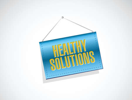 lifecycle: healthy solution banner sign illustration design over white background