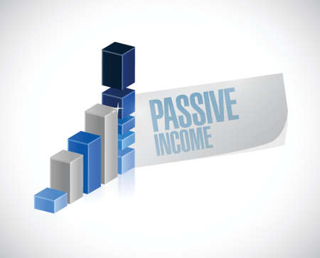 passive income: passive income business sign concept illustration design over white background