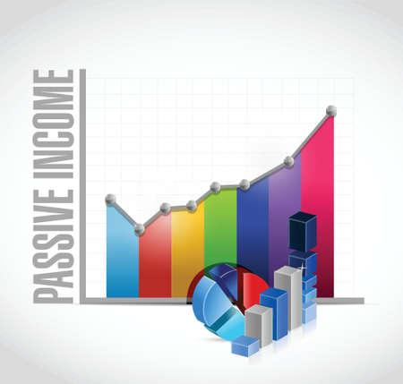 passive income business graph concept illustration design over white background