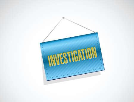 investigacion: dise�o de investigaci�n muestra la bandera de ilustraci�n del concepto sobre blanco