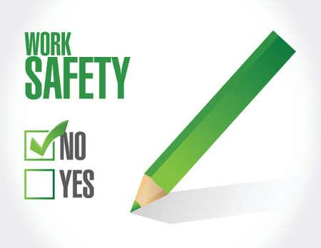dangerous construction: no work safety sign concept illustration design over white Illustration