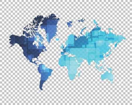 layer: world map over a blank design layer illustration design