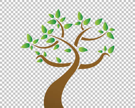 tree over a blank design layer illustration design Vector