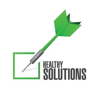 healthy solutions check dart illustration design over white background Illustration