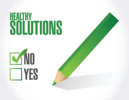 no healthy solutions illustration design over white background Illustration