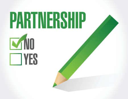 teammates: no partnership illustration design over white background