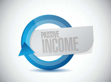 passive income moving concept illustration design over white background