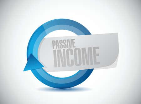 residual income: passive income moving concept illustration design over white background
