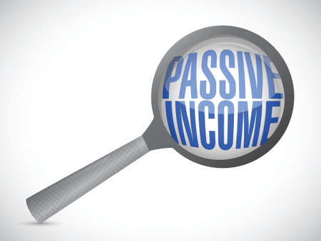 passive income: passive income search concept illustration design over white background
