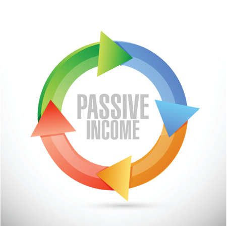 passive income: passive income color cycle concept illustration design over white background Illustration