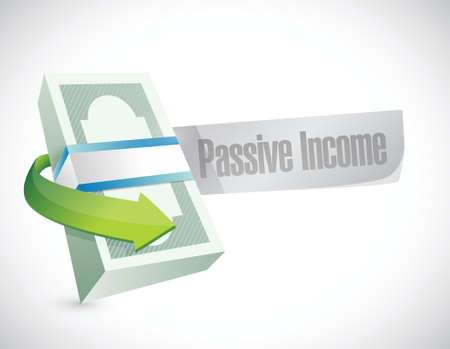 passive income money bills concept illustration design over white background