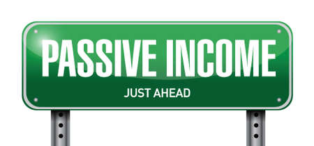 passive income street sign concept illustration design over white background