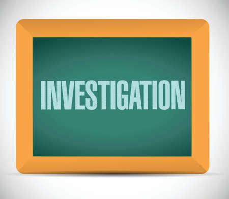 investigacion: Junta de Investigaci�n de signo concepto de ilustraci�n, dise�o en blanco