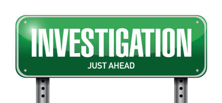 private information: investigation street sign concept illustration design over white