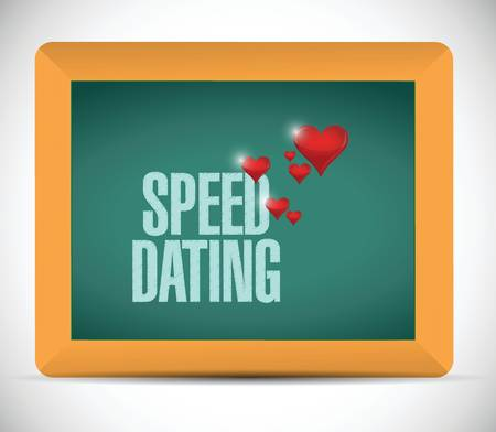 speed dating: speed dating board sign concept illustration design over white