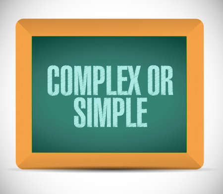 complex or simple board sign illustration design over white background illustration
