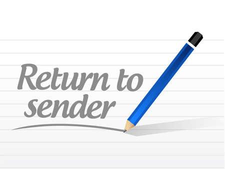 terugkeer naar afzender bericht concept illustratie ontwerp over wit