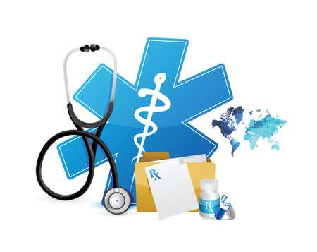medical symbols: medical icons and symbols illustration design over white background