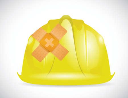 helm bandage-concept fix oplossing illustratie ontwerp op een witte achtergrond