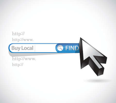 local business: buy local search bar sign illustration design over a white background