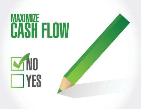 geen maximaliseren cashflow illustratie ontwerp op een witte achtergrond Vector Illustratie
