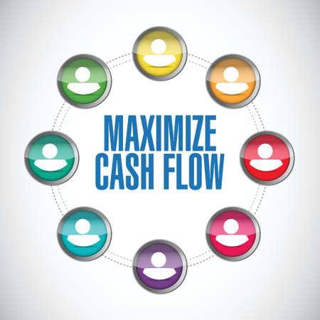 maximize: maximize cash flow contacts illustration design over white