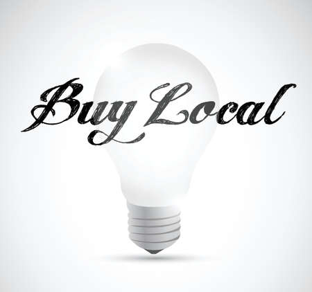 regional product: buy local idea bulb sign illustration design over a white background Illustration
