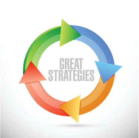 destiny: great strategies cycle sign illustration design over a white background