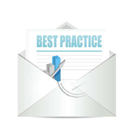 best practice email graph sign concept illustration design graphic