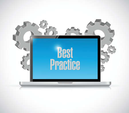 best practice: best practice laptop sign concept illustration design graphic